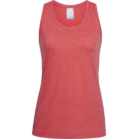 Icebreaker Sphere - Camisa sin mangas Mujer - rojo